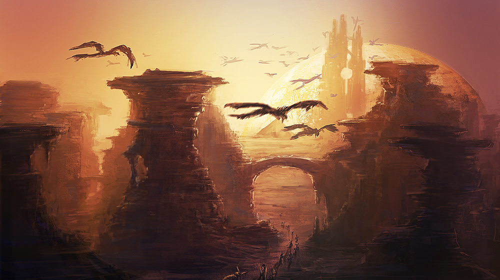 Fantasy Landscape by mrainbowwj on DeviantArt