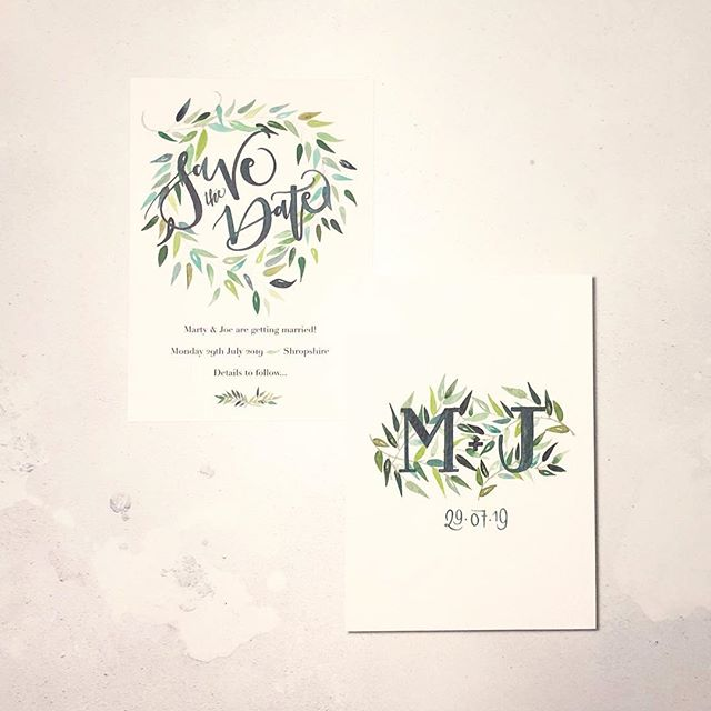 PHOTOGRAPHY - Day 5 ✋🏻 . A bespoke save-the-date, hand painted with watercolour greenery & brush lettering. Made for a very special couple getting married next year; can't wait to start on the invites! 🌿🌱💚 . I have a LONG way to go with learning and developing my photography skills. I have a DSLR but mostly use my iPhone X. Just need to up my flatlay game 🤳🏻💜📸 . #ukwscmtm #marchmeetthemaker #calligraphy #wedding #stationery #moderncalligraphy #weddingstationery #ukcalligrapher #bespokestationery #luxurywedding #weddinginvitation #savethedate #watercolourwedding #handpainted #brushlettering