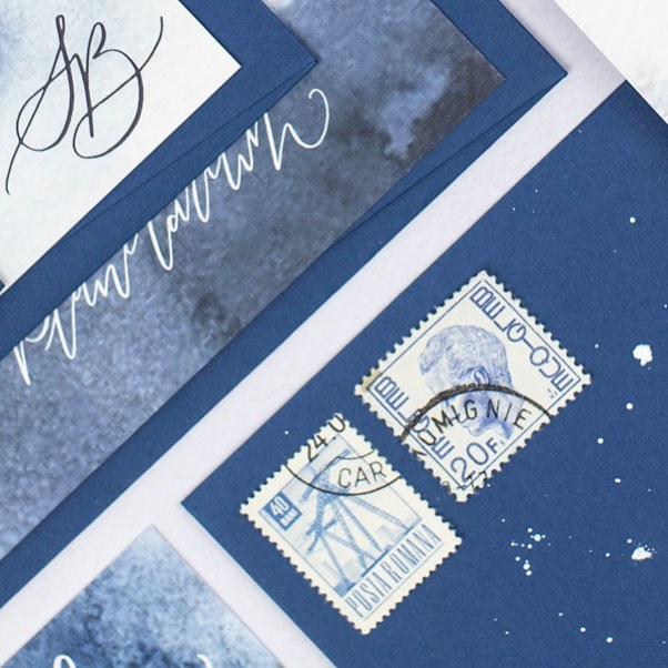 . {S N E A K Y  P E E K} . I'm working hard to get our house collection ready for the site and available for orders...in the meantime here's a sneak peek of one of my faves ✨🌌💙 . Our collection will include matching save the dates for each design and will have hand calligraphy details specific to you and your day 🖋 You can also opt for our semi-bespoke service to tweak any design and truly make it your own. . 📸 by the lovely @hollyboothstudio . #ukweddingstationer #luxewedding #weddinginvitations #ukweddinginvitation #deliriumcalligraphy #calligraphyinvitation #modernwedding #creativewedding #calligraphy #moderncalligraphy #bespokecalligraphy #calligraphylove #weddingstationery #stationery #calligraphyuk #weddinglondon #calligraphylondon #ukwedding #calligraphystyle #modernlettering