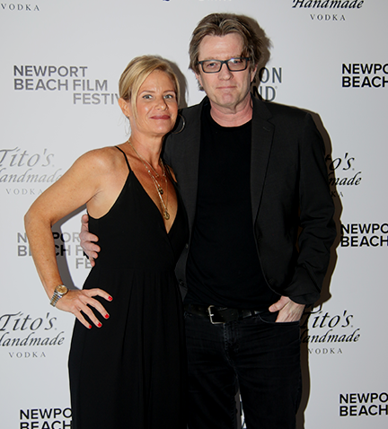Paul's son Lee Butterfield and his wife Kristen attend the  HORN FROM THE HEART World Premiere