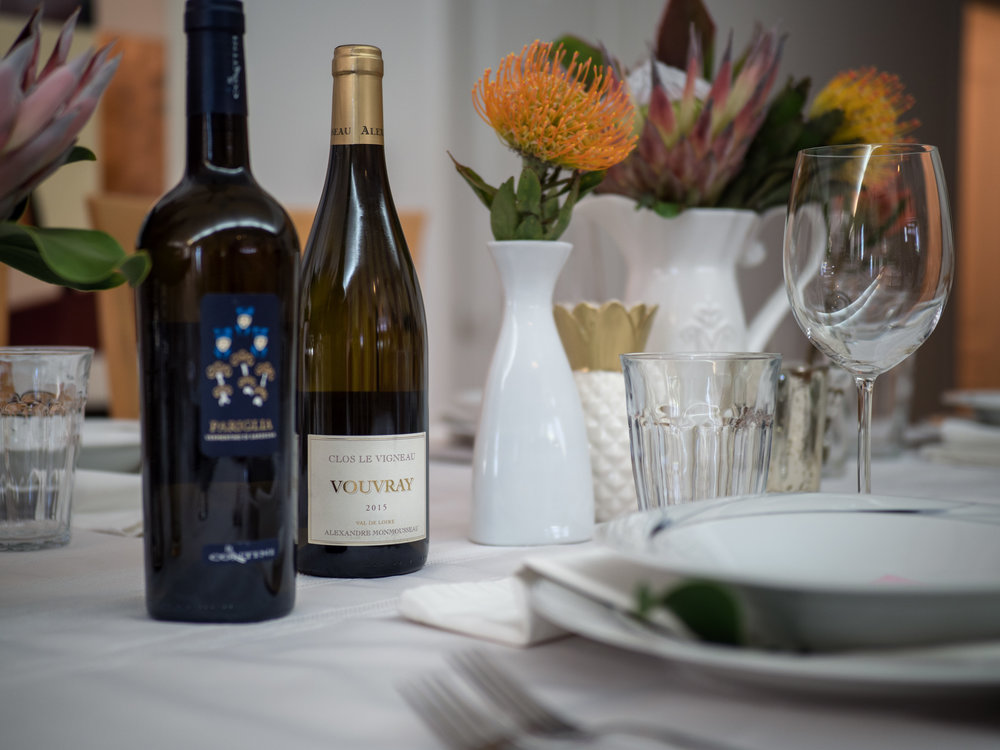 A Royal Hawaiian Mother's Day - Wine Bottles on Decorated Table