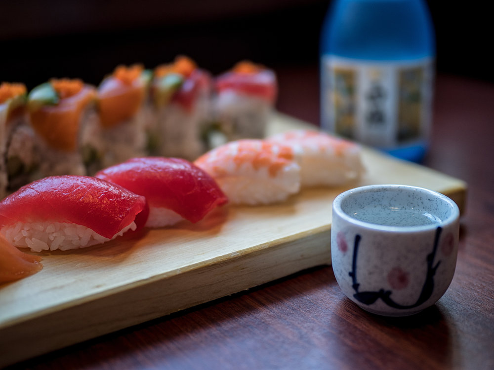 Although it is no BYOB, Ginza Sushi has a fine selection of sake to pair with your sushi.