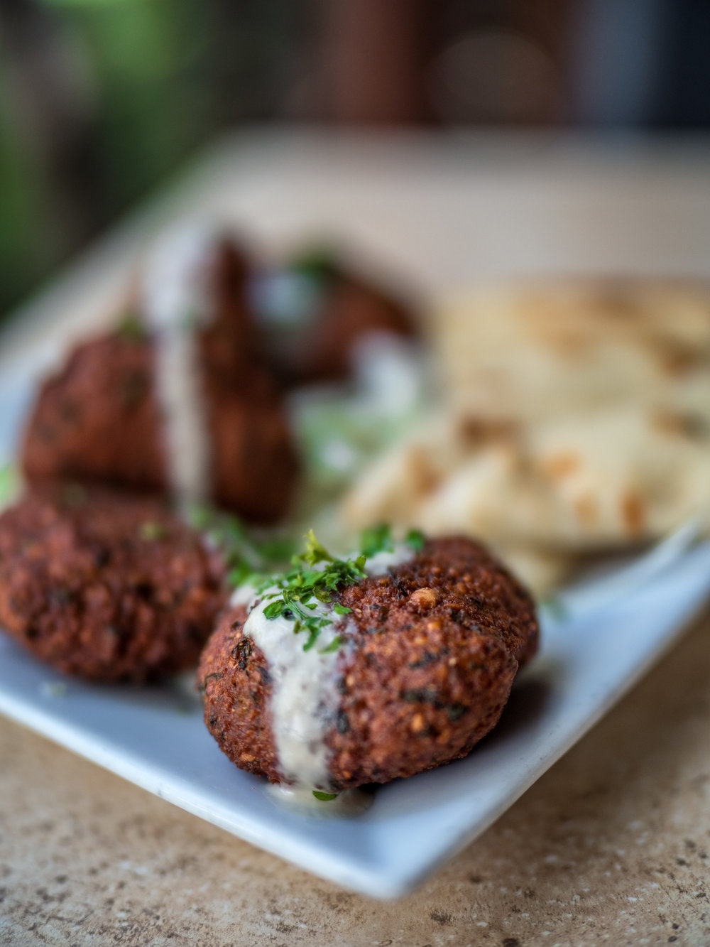 Everyone loves a good falafel, available at Kan Zaman in Honolulu's Chinatown District.