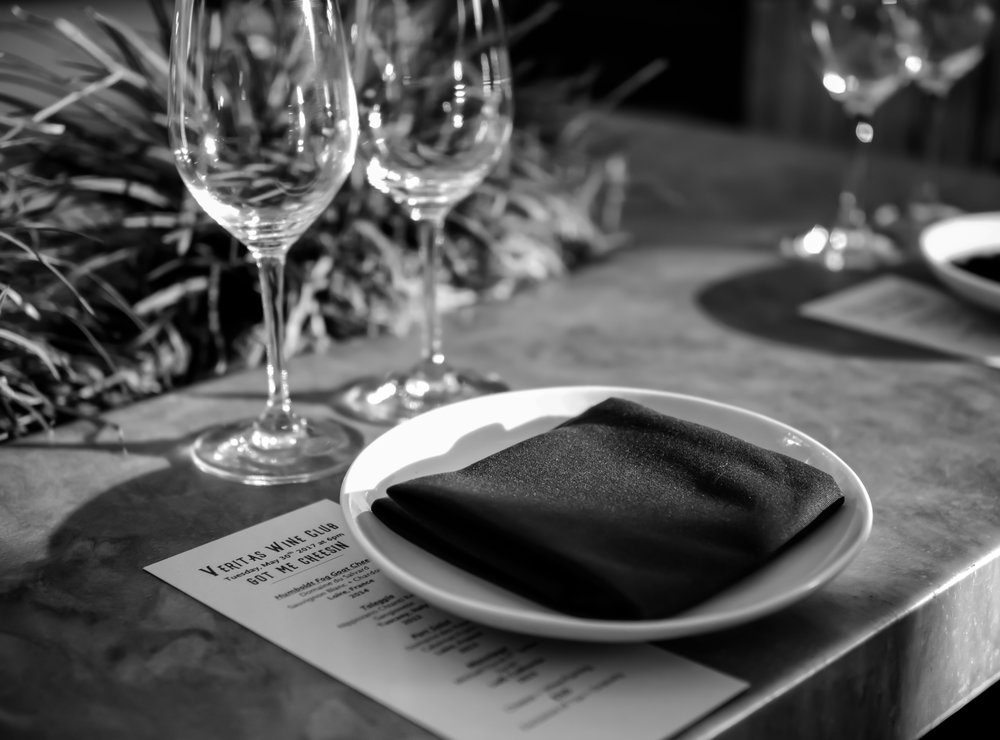 Musings by the Glass - Veritas Wine Club - Table Setting
