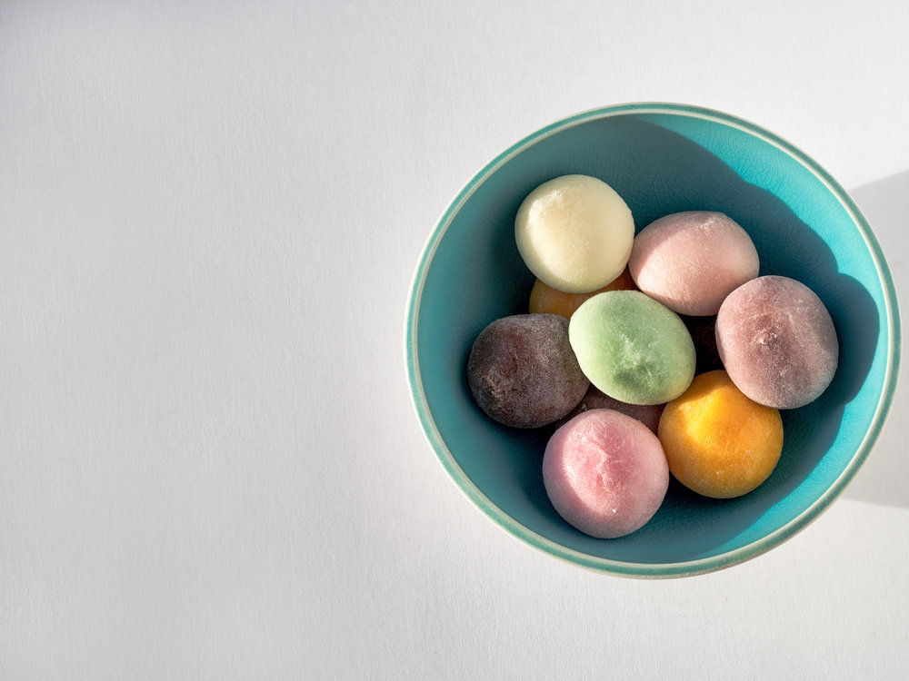 Musings by the Glass - Sake-Confection Hypothesis - Bowl of Mochi Ice Cream