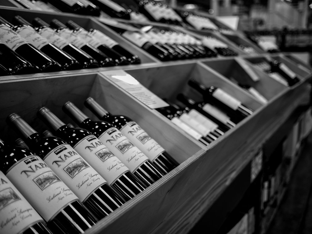Musings by the Glass - Costco Corner - Costco Aisles Black and White