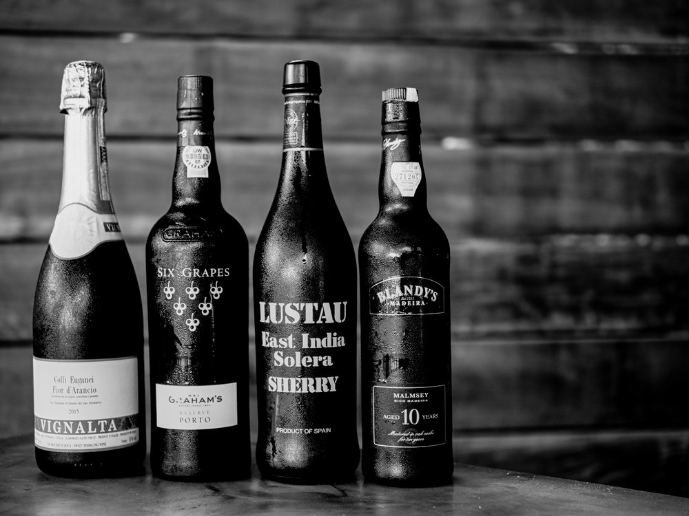 Musings by the Glass - The Nightcap Corollary - Dessert Wines Black and White