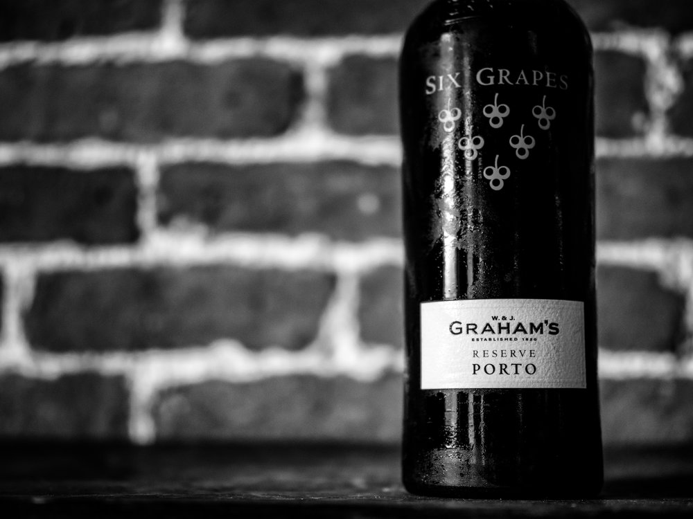 Musings by the Glass - The Nightcap Corollary - Graham's Six Grapes Reserve Port Black and White