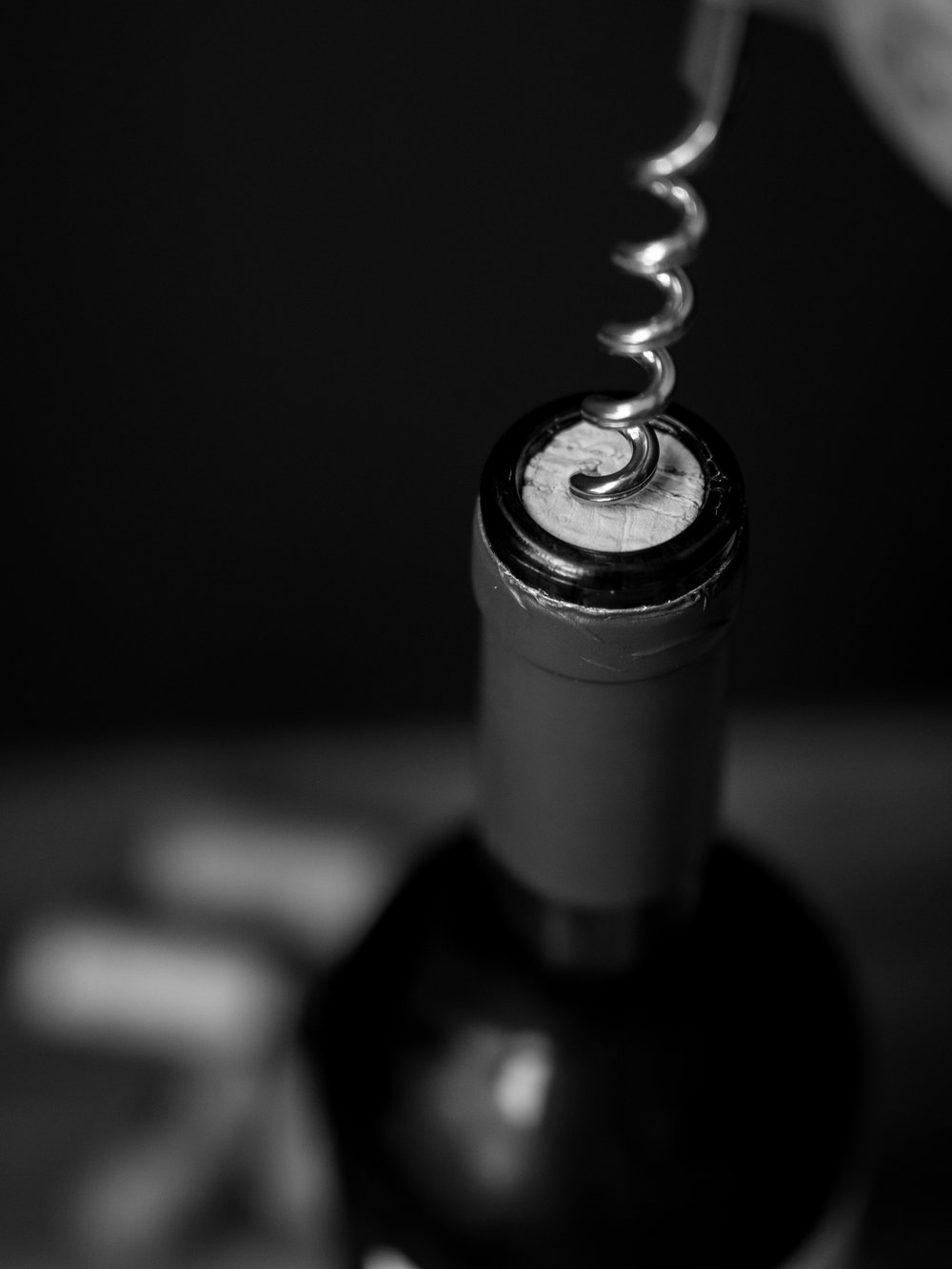 Musings by the Glass - Vinous Deduction Theorem - Bottle and Corkscrew