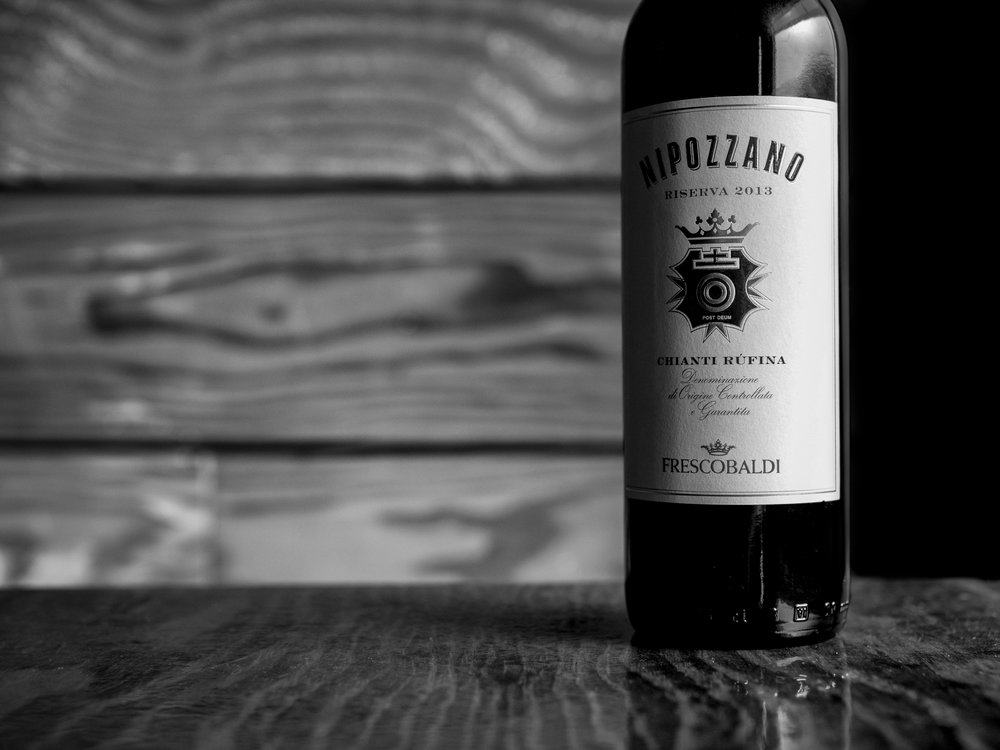 Musings by the Glass - Deductive Challenge - Nipozzano Chianti Rufina Sangiovese Italy Black and White