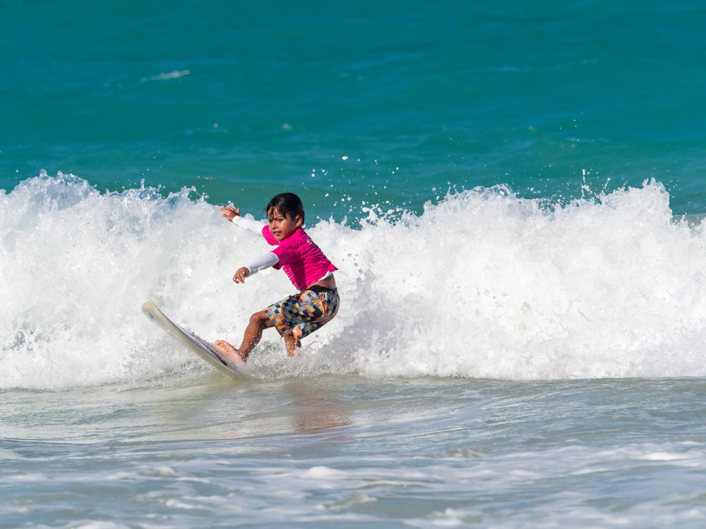 Musings by the Glass - Musings by the Surf - Femake Keiki Surfer