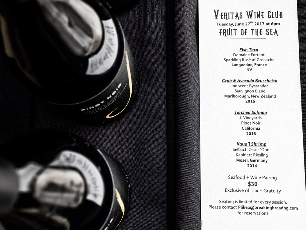 Musings by the Glass - Tips for Pairing Wine and Seafood - Wine Club Menu
