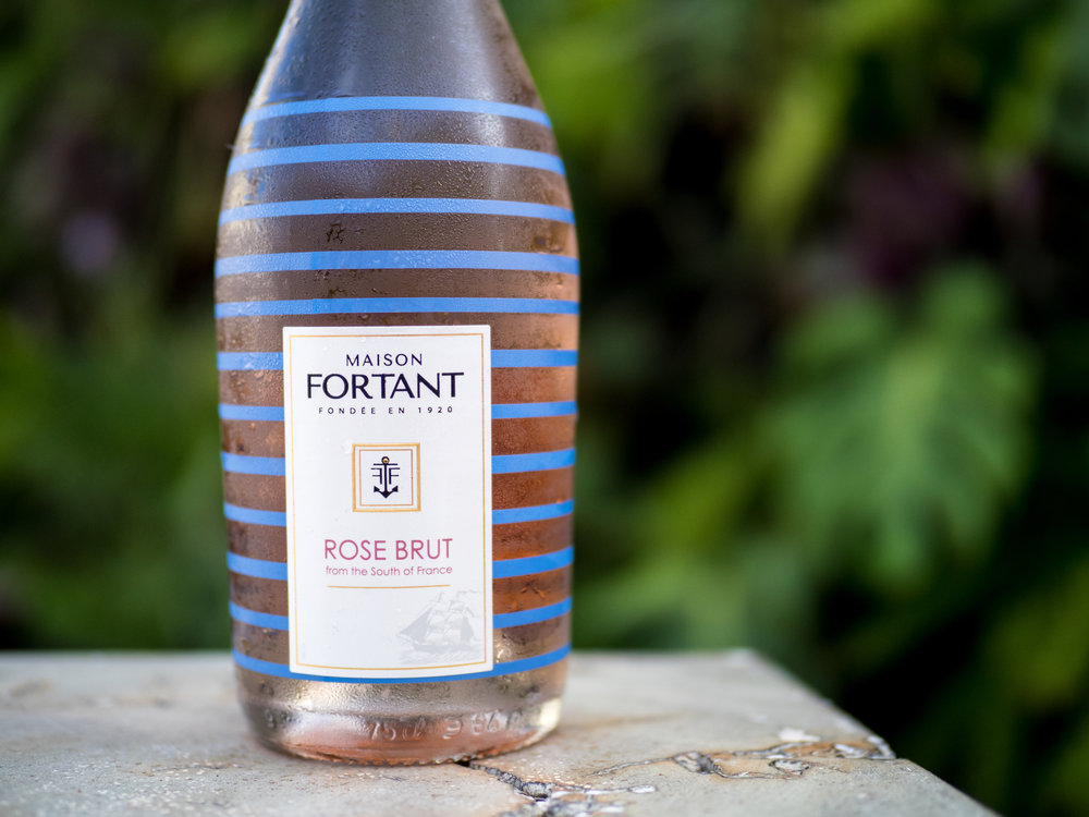 Musings by the Glass - Tips for Pairing Wine and Seafood - Domaine Fortant Sparkling Rose Languedoc France