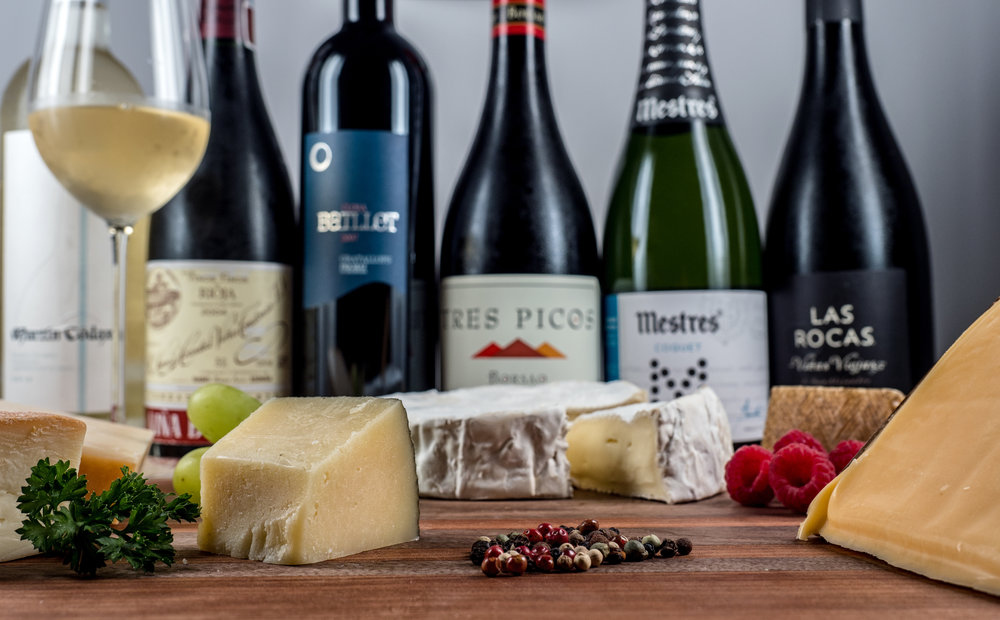 Musings by the Glass - Ode to Spanish Wine and Cheese - Wine and Cheese Plate