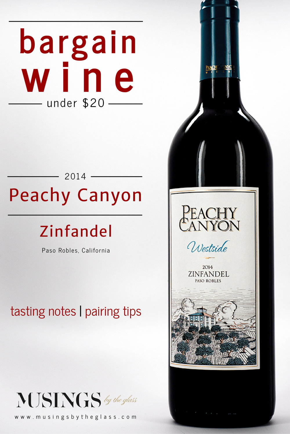 Musings by the Glass - Bargain Wines - Peachy Canyon Westside 2014 Zinfandel