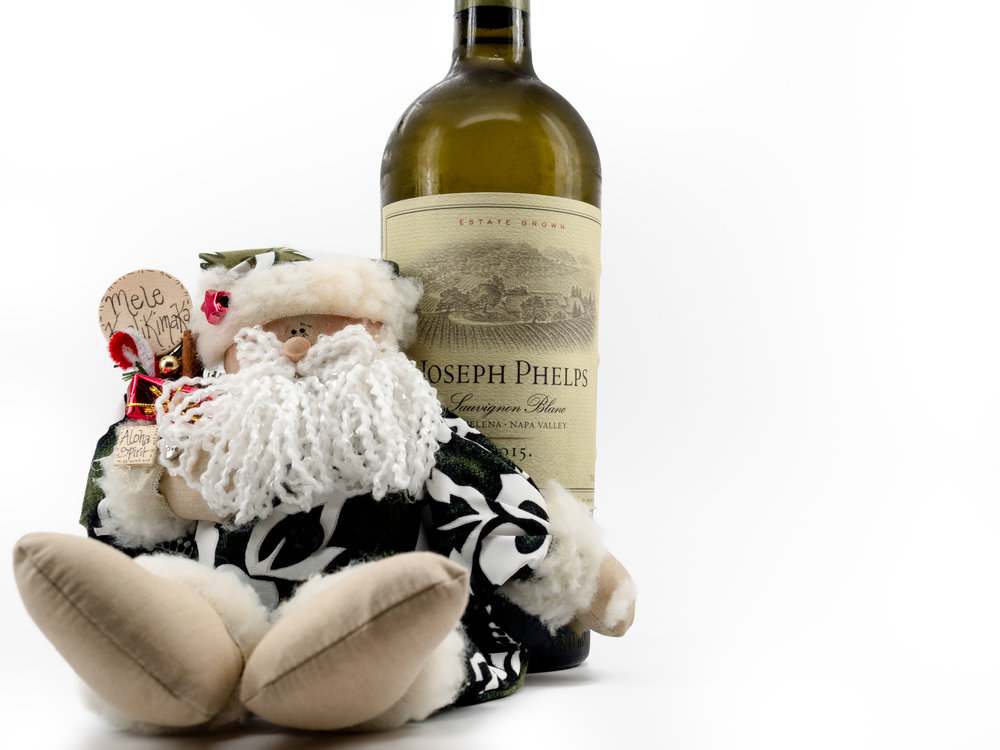 Musings by the Glass - Mele Kalikimaka - Hawaiian Christmas Music and Wine Pairings - Santa Loves 2015 Joseph Phelps Sauvignon Blanc from Napa Valley California