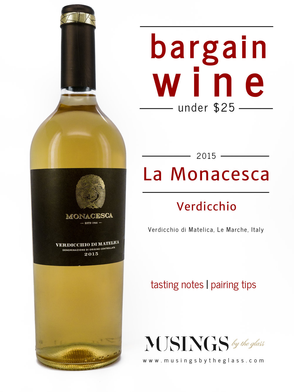 Musings by the Glass - Bargain Wines - Verdicchio from Monacesca, Verdicchio di Matelica, La Marche, Italy