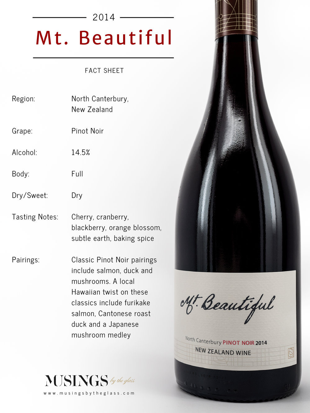 Musings by the Glass - The Pineapple-Kiwi Combination - Pinot Noir from Mt. Beautiful Winery in New Zealand