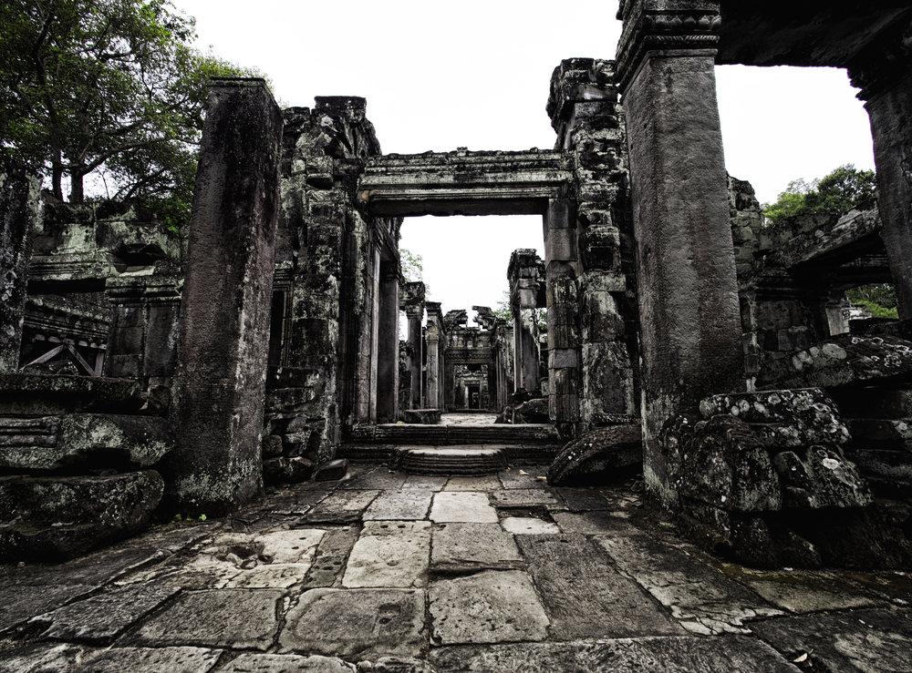 Musings by the Glass - Visual Musings - Ancient Corridor in Angkor Wat