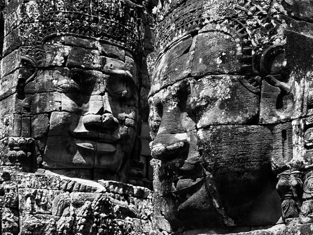 Musings by the Glass - Visual Musings - Bayon's Many Faces