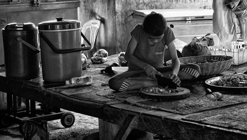 Musings by the Glass - Visual Musings - Prep Cook in Cambodia