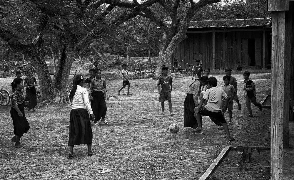 Musings by the Glass - Visual Musings - Schoolyard Footbal in Rural Angkor