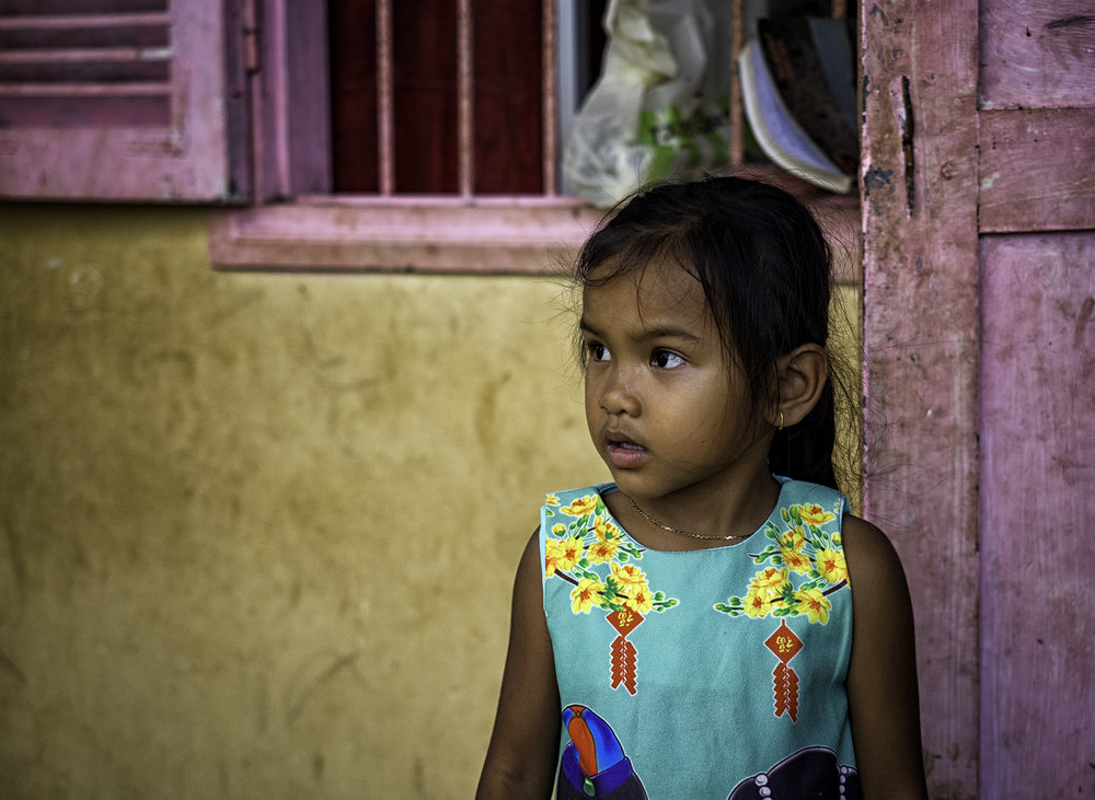 Musings by the Glass - Visual Musings - Rural Schoolgirl in Angkor Cambodia