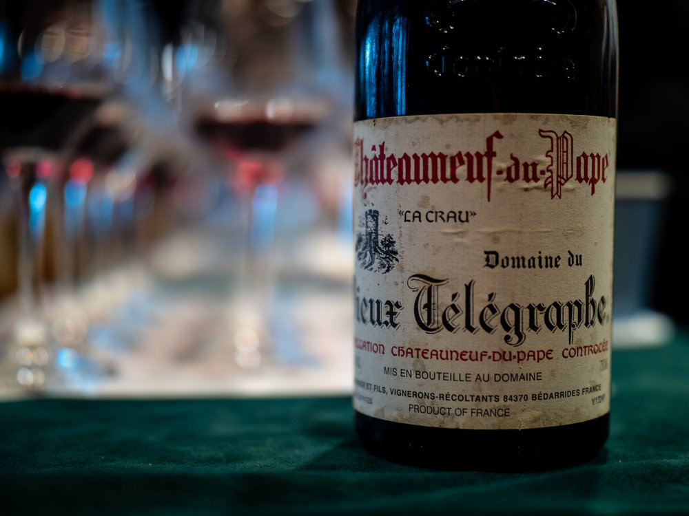 Vinous Label Elucidation - Decoding Rhone Valley Wine Lavels - Vieux Telegraphe from Chateauneuf-du-Pape