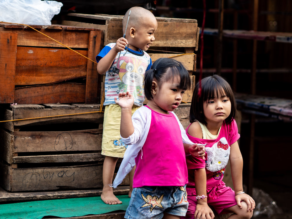 Life on the Street in Lubuklinggau - Market Kids