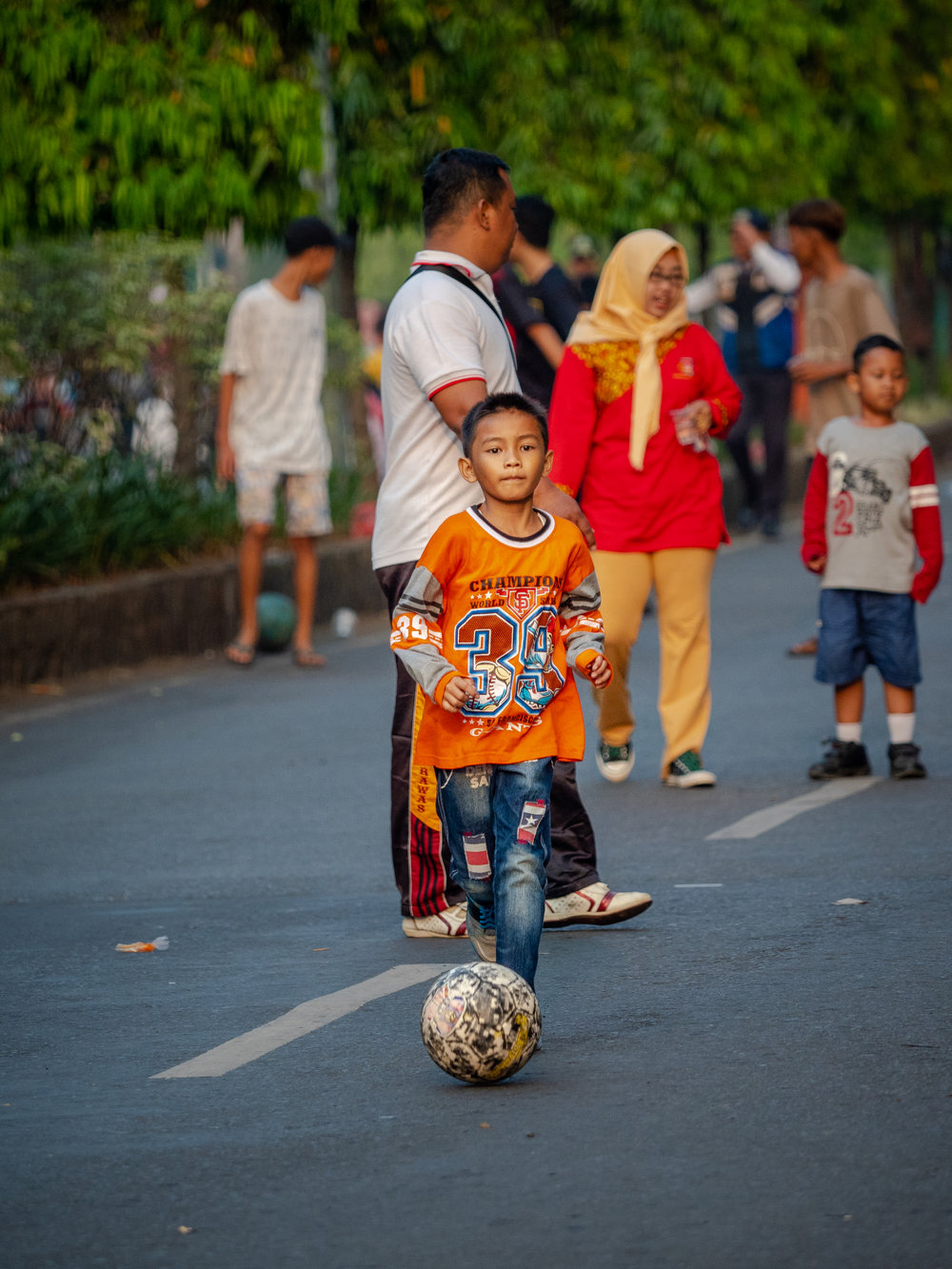 Life on the Street in Lubuklinggau - Paved Futbol Pitch