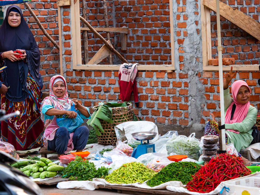 Life on the Street in Lubuklinggau - Market Ladies
