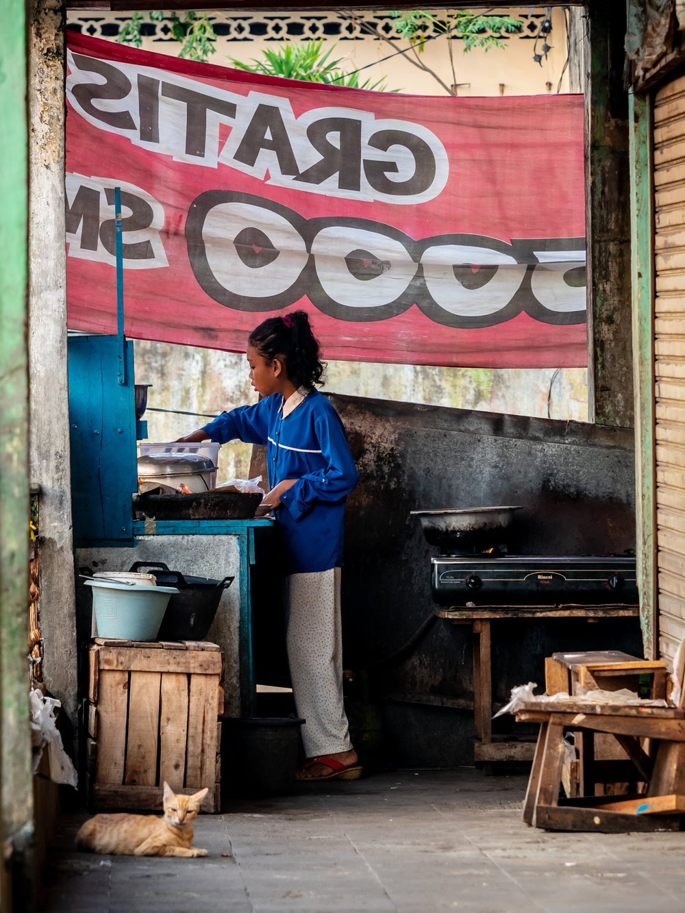 Life on the Street in Lubuklinggau - Market Food