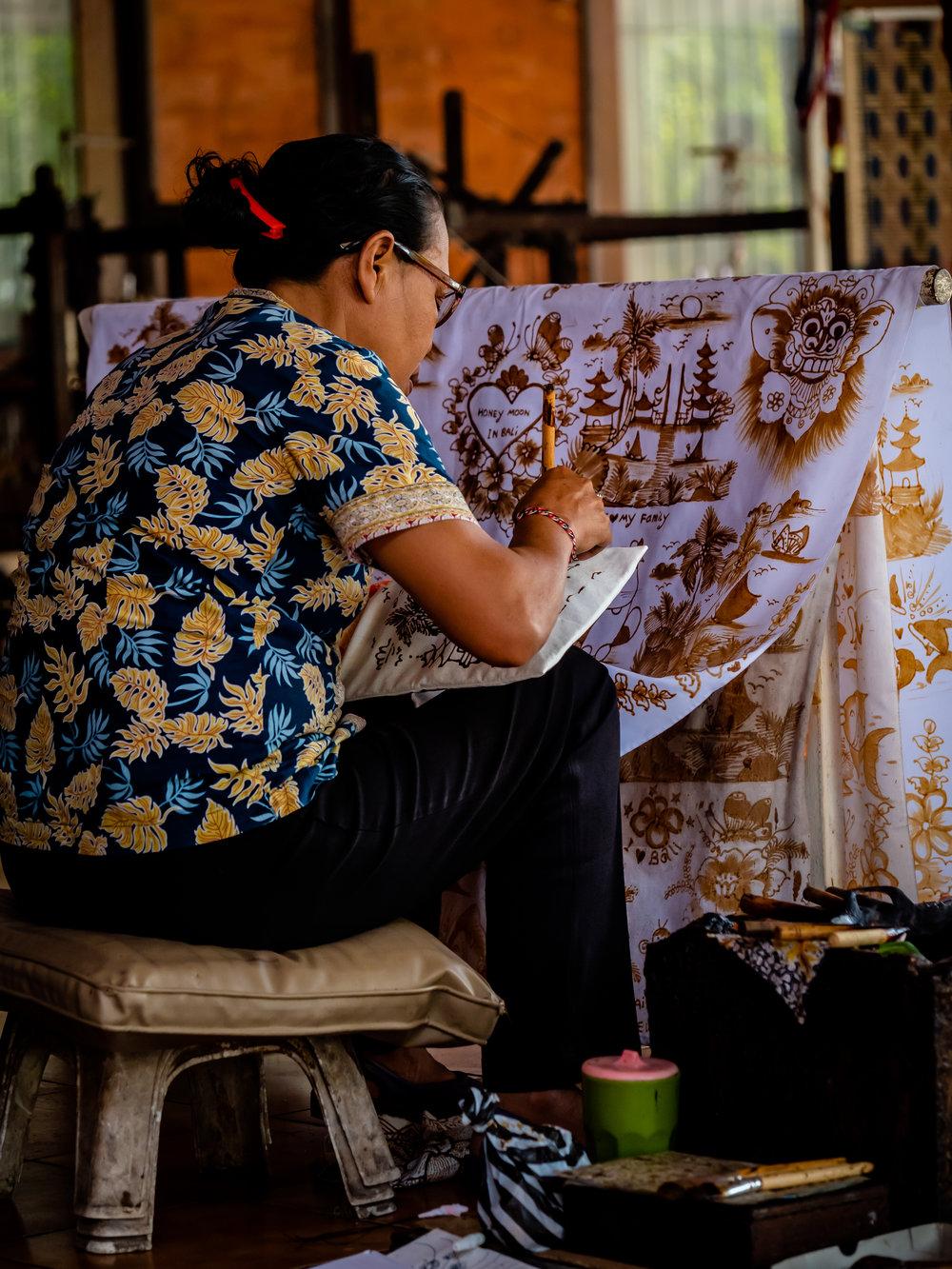 Musings by the Glass - Bali Photo Essay - Batik
