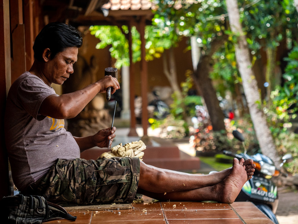 Musings by the Glass - Bali Photo Essay - Wood Carving