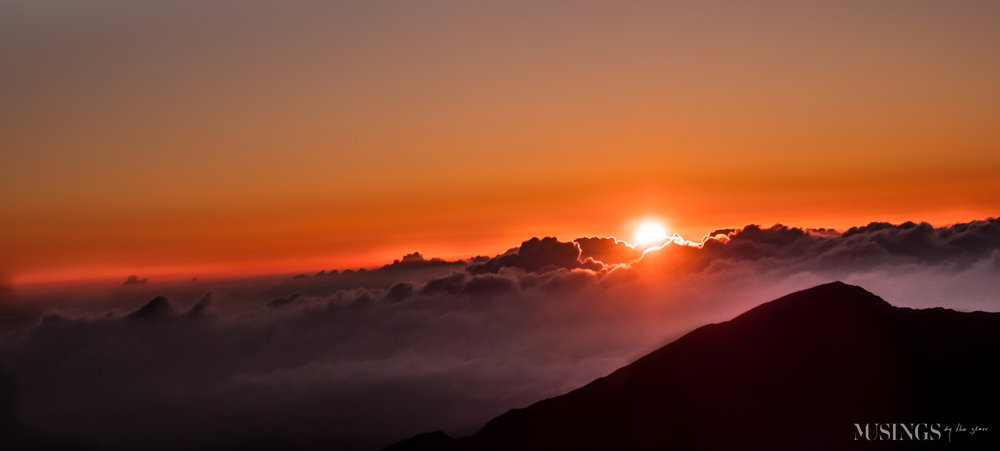 Musings by the Glass - Favorite Photos of 2018 - Sunrise at Haleakala, Maui, Hawaii