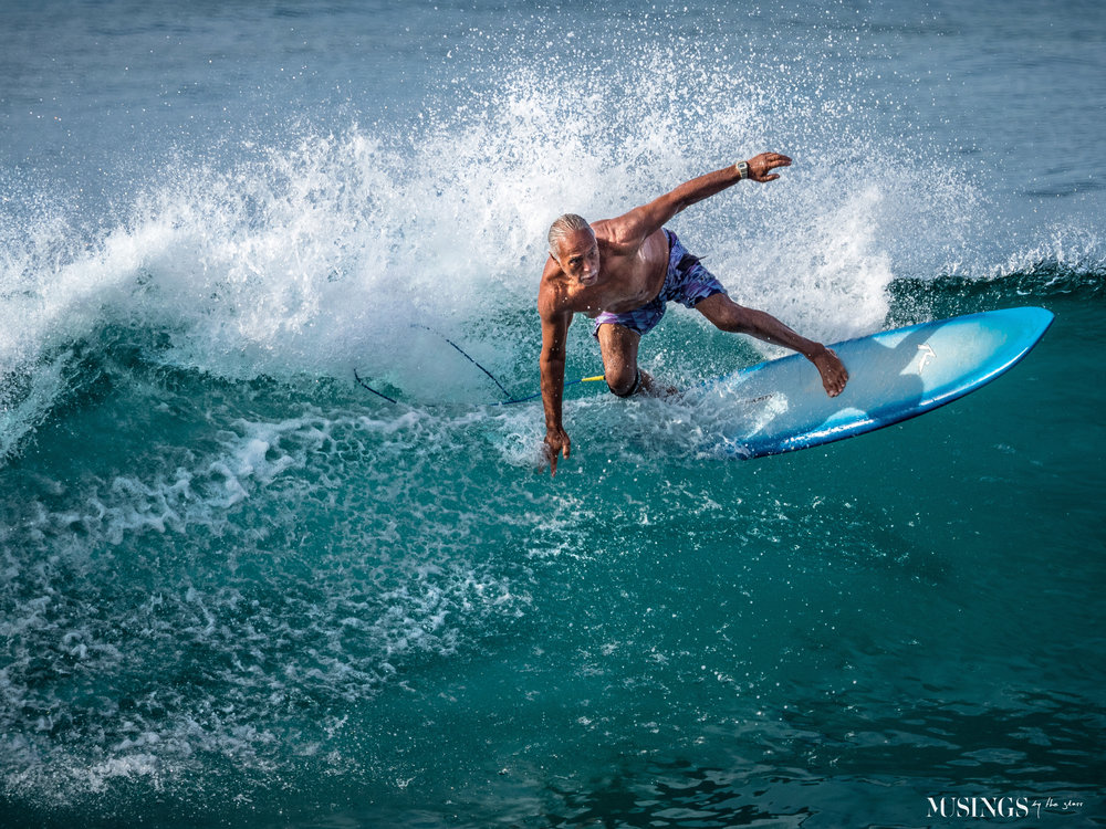Musings by the Glass - Favorite Photos of 2018 - Surfer Gramps da Ripper, Oahu, Hawaii