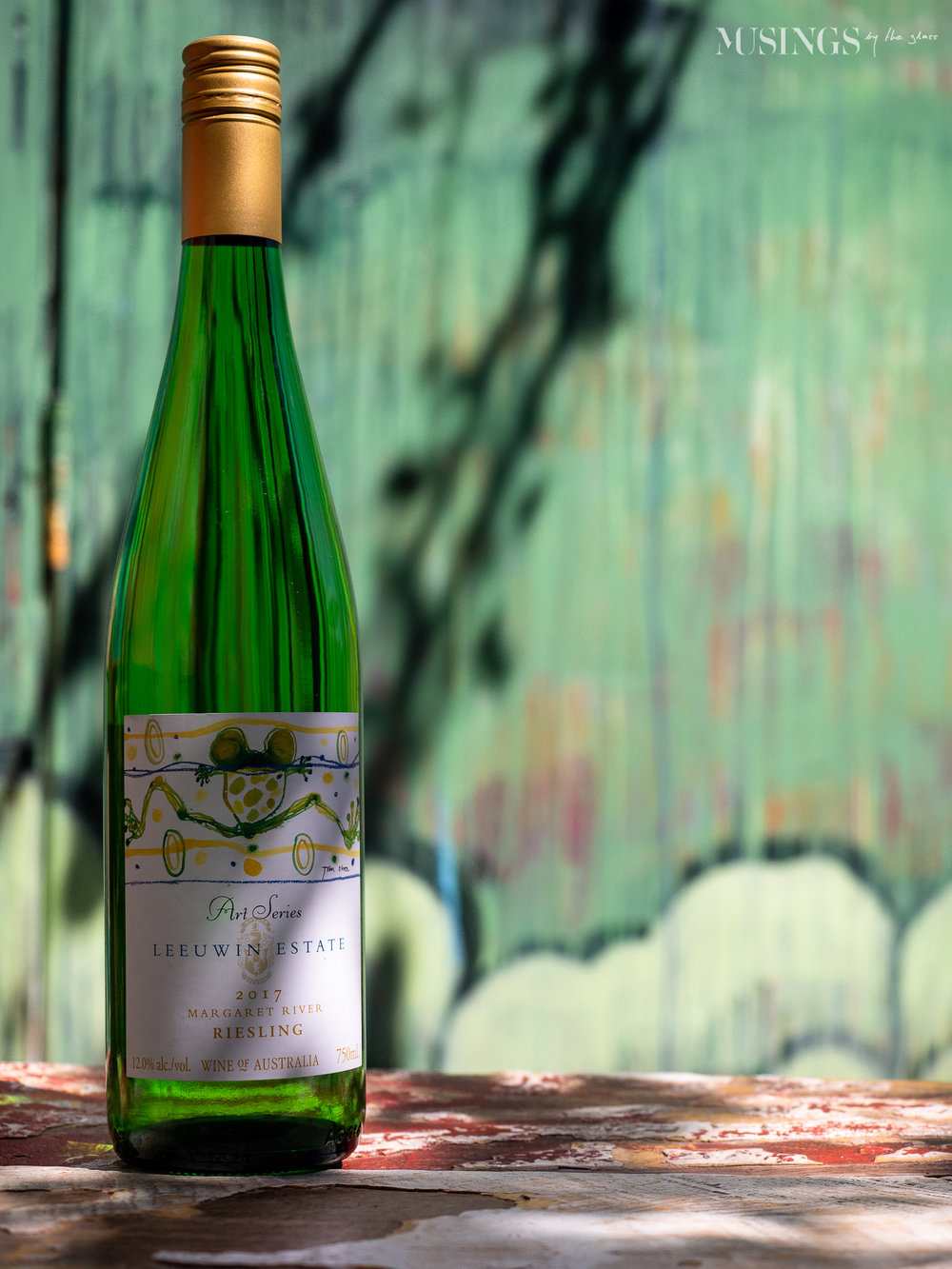 An Art Series wine deserves an artsy background…