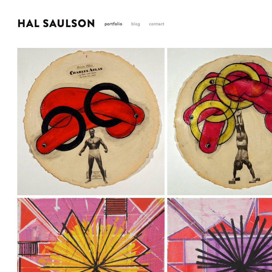 HAL SAULSON - An artist portfolio for the talented Hal Saulson, showcasing his collection of work, a blog, and point of contact.Services Provided:Web Design