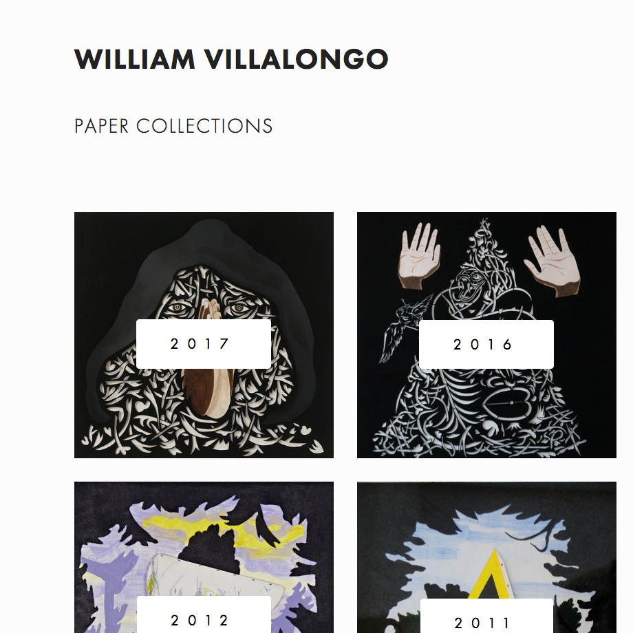 VILLALONGO STUDIO - Over a decade of works by artist, William Villalongo, showcasing his multi-media collections, press & publications, curatorial events, and an extensive resume in education & teaching.Services Provided:Branding, Web Design, E-Newsletter Design