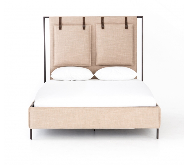 7.  Leigh upholstered queen bed from Memoky  -  $1,745