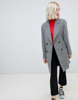 1.  ASOS New Look Coat in Hounds Tooth  - $72