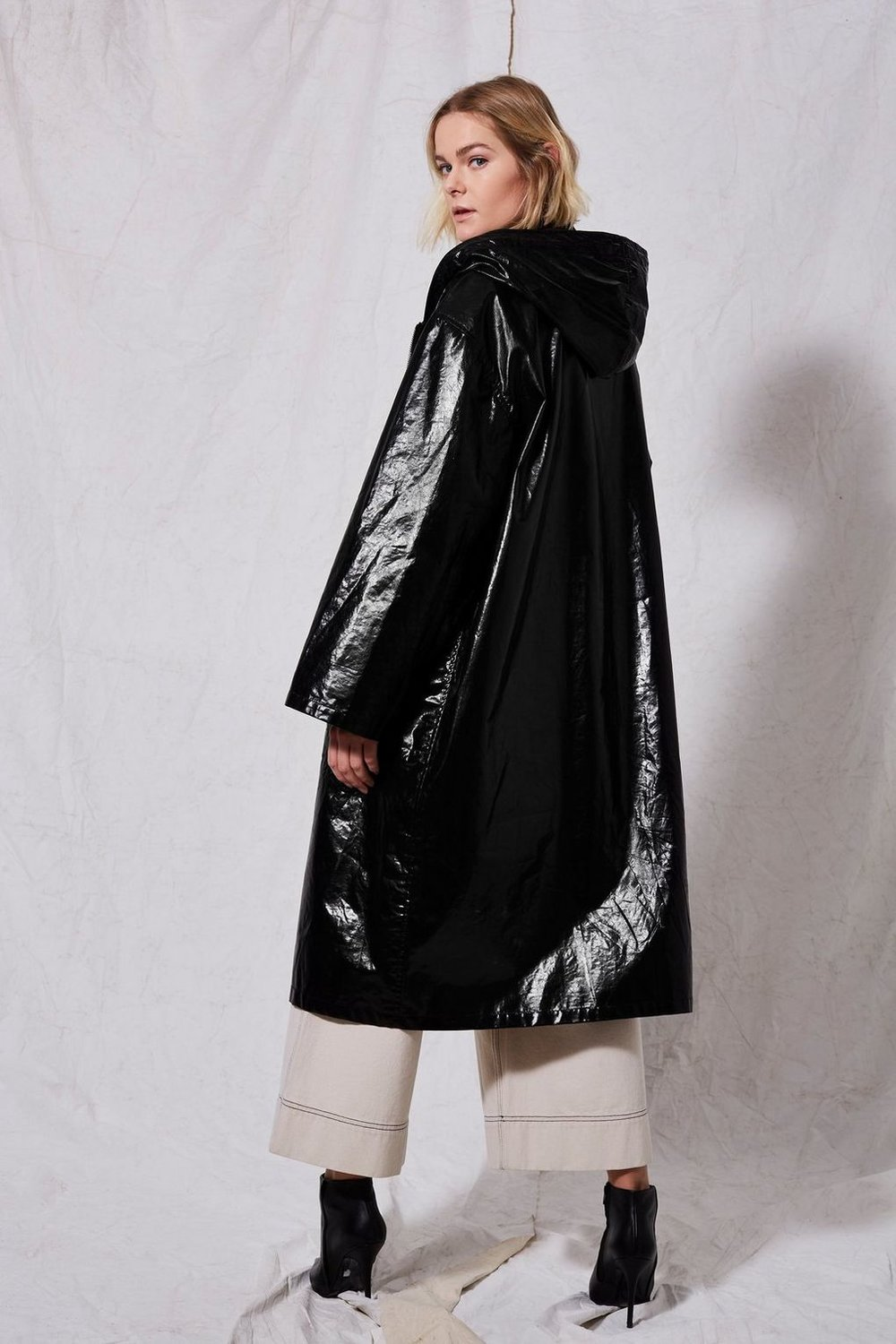 10.  Topshop Vinyl Raincoat by Boutique  - $230