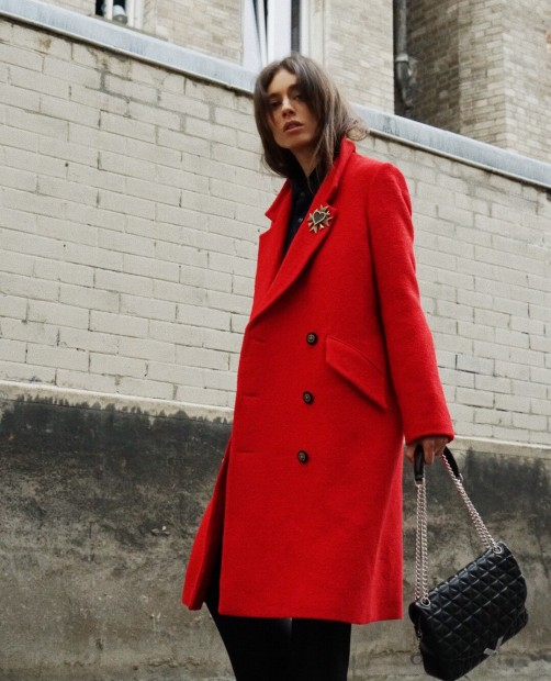 12.  The Kooples Red Crossover Coat  - $387