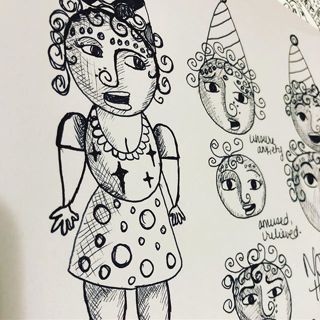 So many things have been going on for me personally that is shifting my focus with my art. I haven't posted in awhile but I'm drawing and digging deep to find my inspiration. I found out #clowns #happyclowns . . . . . . #worksonpaper #illustration #multidisciplinaryartist  #seattleartist #carnivalart  #comicillustration