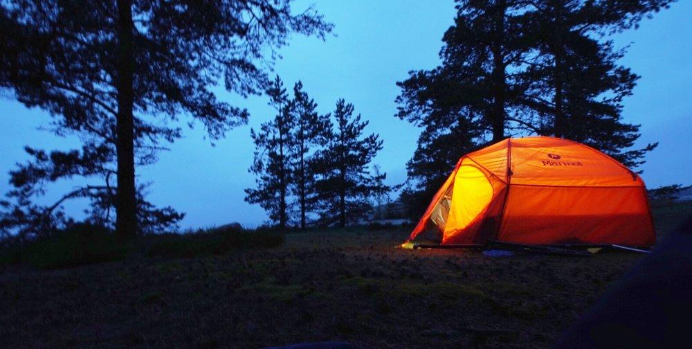 Teltan lämpöön ekan päivän jälkeen.
