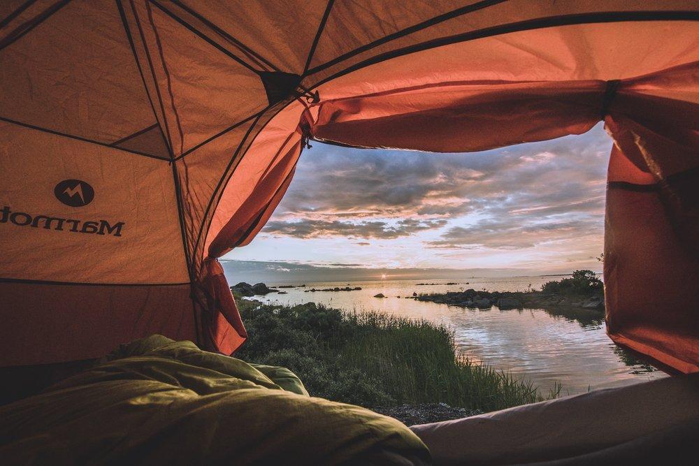 Teltasta oli komeat näkymät!