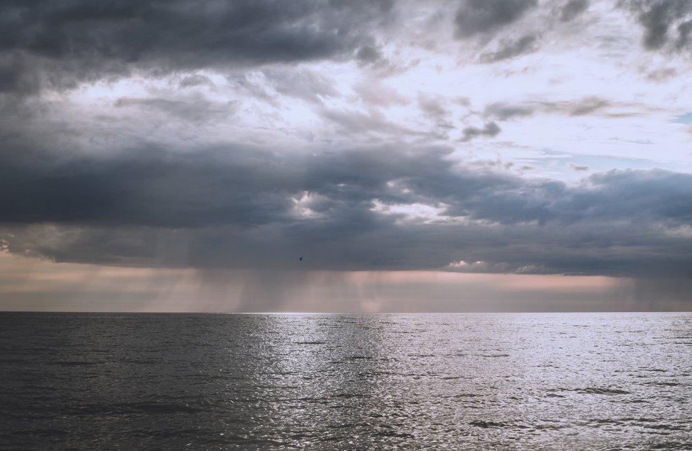 Taivaanrannassa sateli enemmänkin vettä, vesisateet tulivat omalle kohdalle vasta yöllä.
