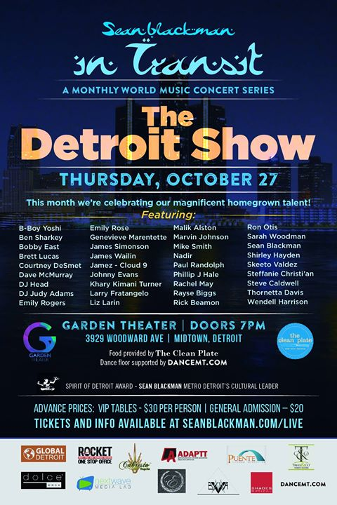 OCTOBER ~ DETROIT       The Detroit Show