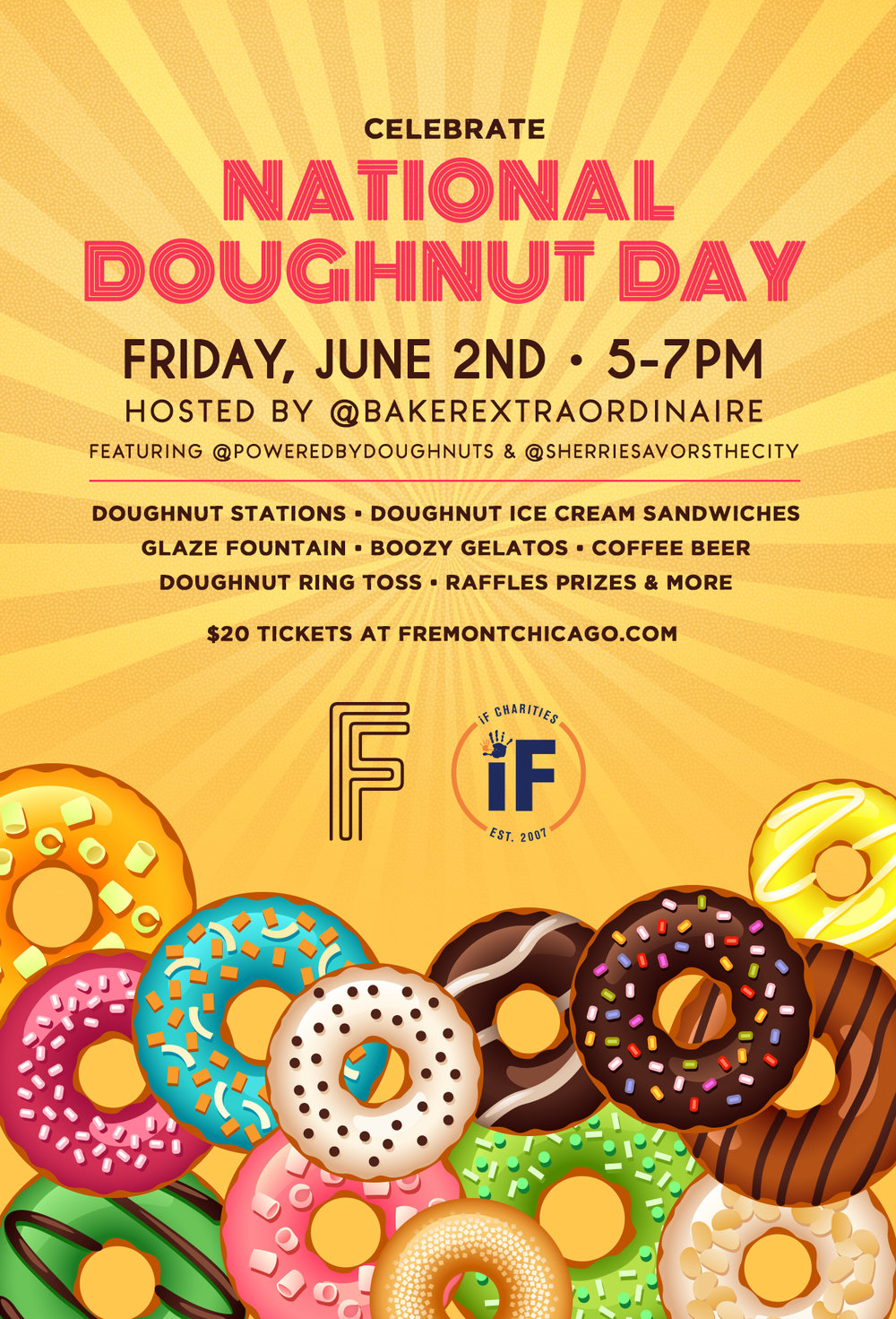 Help iF Charities celebrate National Doughnut Day at Fremont!  - Click here to get your tickets today!
