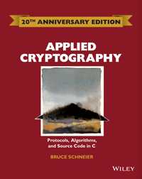 Applied Cryptography: Protocols, Algorithms, and Source Code in C.  A book by Bruce Schneier